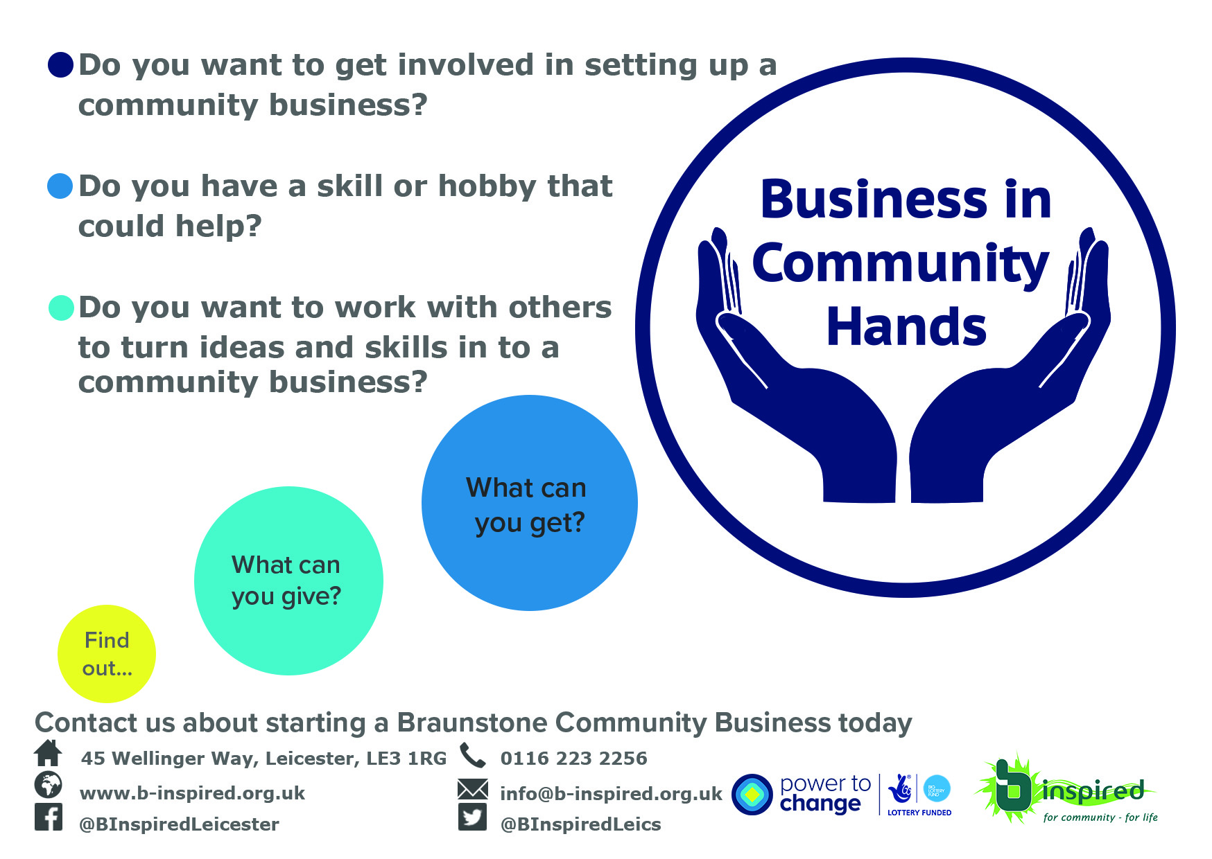 power to change community business roadshow b inspired leicester